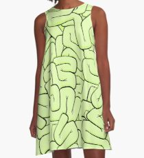 Zombie Brains in Lime A-Line Dress