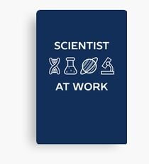 Cool Scientist At Work  Canvas Print