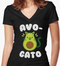 AvoGato - Avocado - Cinco De Mayo Women's Fitted V-Neck T-Shirt