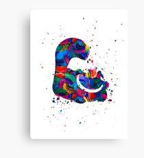 Cheshire Cat Splat Canvas Print