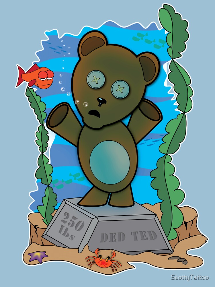 Ded Ted with the Fishes by ScottyTattoo