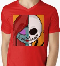 """""""The Face of Love"""" - NMBC, Nightmare Before Christmas, Couple, Cute, Jack, Sally, Finkelstein, Skellingon, King, Queen, Pumpkin, Love, Couple, Romantic, Romance, Split, Face, Off, Just the Two of Us T-Shirt"""