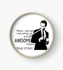himym Barney Stinson Suit Up Awesome Clock