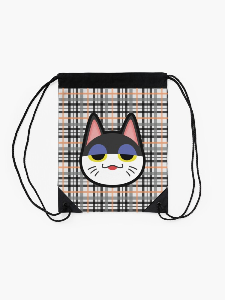 Alternate view of PUNCHY ANIMAL CROSSING Drawstring Bag