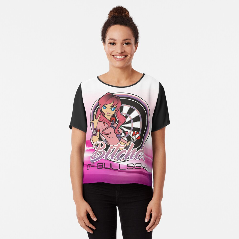 Beaches of Bullseye Darts Team Chiffon Top