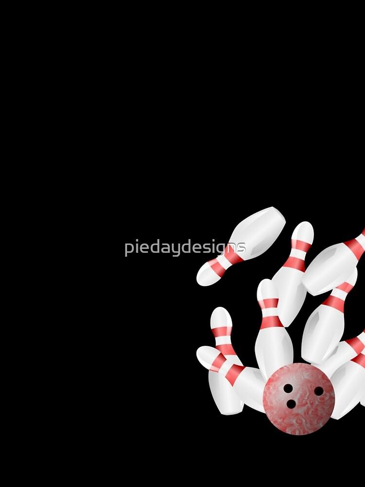 Ten-pin bowling strike by piedaydesigns