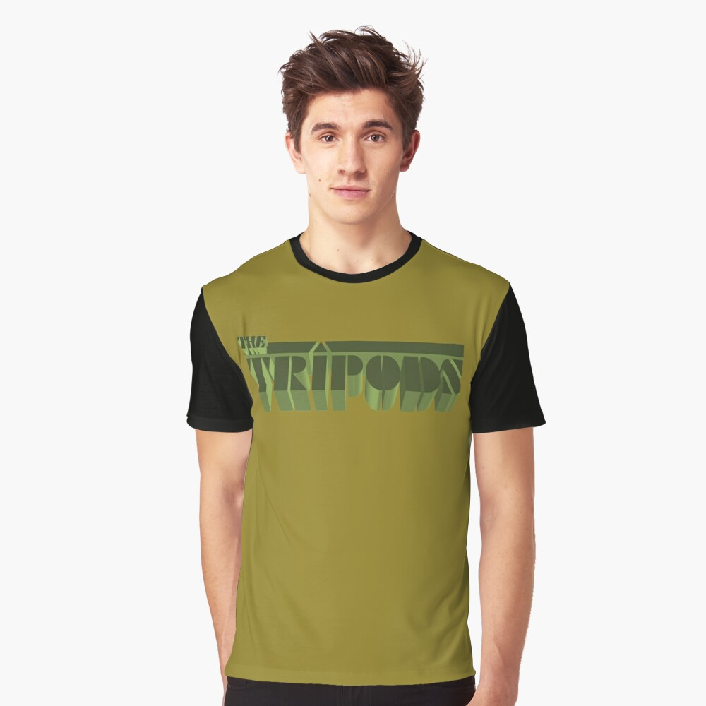 NDVH The Tripods Graphic T-Shirt Front