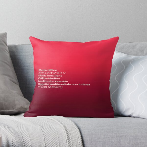 Media Offline Adobe Premiere Pro Throw Pillow