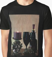 Wine For Two by Candlelight Graphic T-Shirt