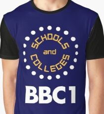 BBC1 Schools and Colleges - 1970s Graphic T-Shirt