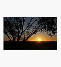 SUSET IN THE OUTBACK Photographic Print