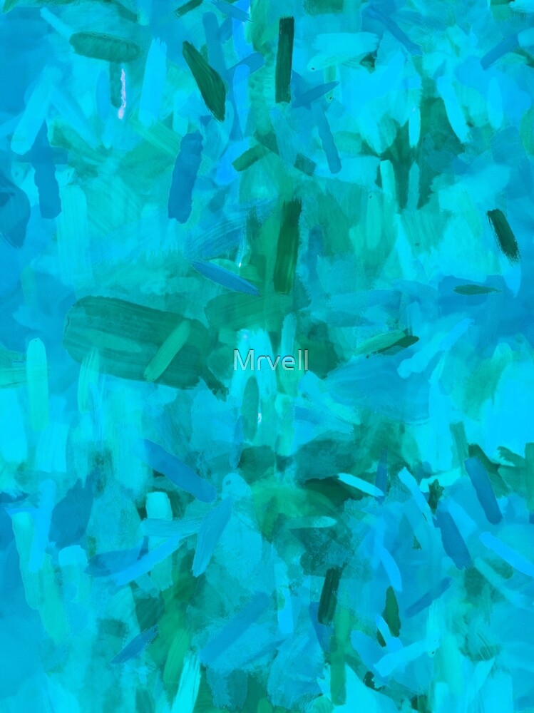 splash painting abstract texture in blue and green by Mrvell
