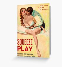 Pulp Sex Cover - Reprint of Vintage Pulp Sexy book  - Greeting Card