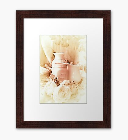 As to Which Beautiful Vase to Select Framed Print