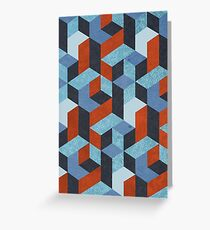 Funky Geometric Texured Greeting Card
