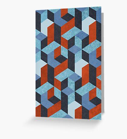 Funky Geometric Texured Greeting Card