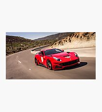 Ferrari F12 N-Largo Rolling Shot While Rallying! Photographic Print