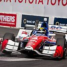 Indy Car 3 Wheelin' It Off the Berm at Turn 9 at the Long Beach Grand Prix! by HnatAutomotive