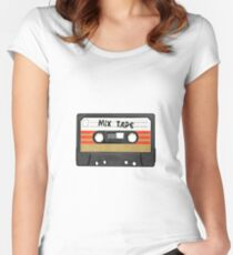 Mix Tape Cassette Women's Fitted Scoop T-Shirt