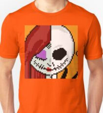 "Matching ""The Face of Love"" - NMBC, Nightmare Before Christmas, Couple, Cute, Jack, Sally, Finkelstein, Skellingon, King, Queen, Pumpkin, Love, Couple, Romantic, Split, Face, Just the Two of Us Unisex T-Shirt"