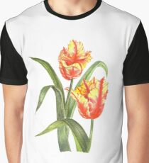 Yellow Parrot Tulips Graphic T-Shirt
