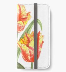 Yellow Parrot Tulips iPhone Wallet/Case/Skin