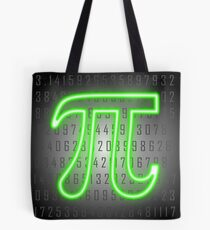 Pi Day Neon Sign Tote Bag