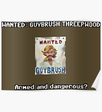 WANTED: Guybrush Threepwood Poster