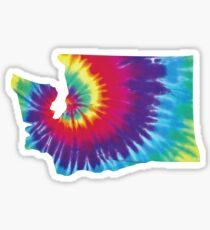 Washington State Tie Dye Sticker