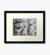 Saribung, Nepal - Watercolor and Ink artwork Framed Print