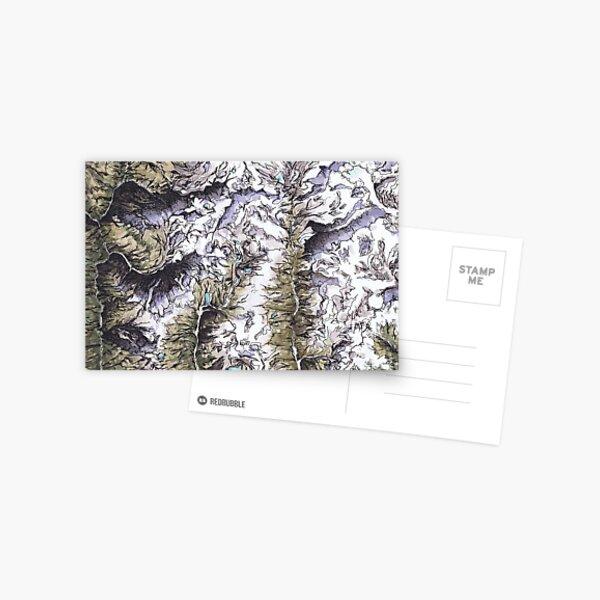 Saribung, Nepal Kartografie Kunstdruck Postkarte
