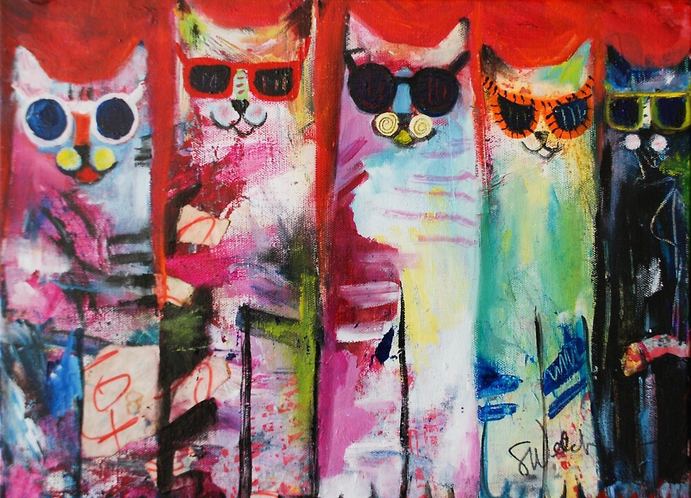 Cats Meow by Sharon Welch