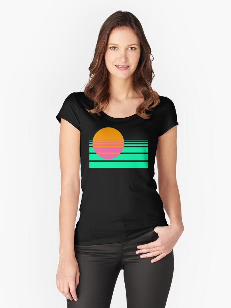 The Horizon Women's Fitted Scoop T-Shirt Front
