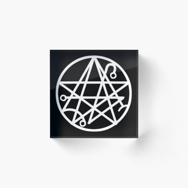 Necronomicon Symbol Acrylic Block
