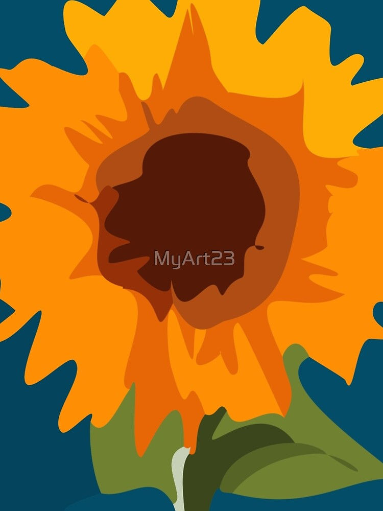 Kids Painitng SunFlower by MyArt23