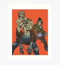 zombie boyfriend 1 Art Print