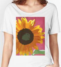 Kids Painitng SunFlower Women's Relaxed Fit T-Shirt