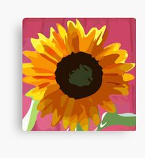 Kids Painitng SunFlower Canvas Print