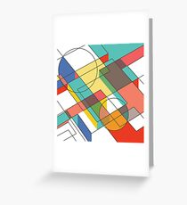 Mid Century Modern Abstraction Greeting Card