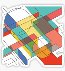Midcentury Modern Abstraction Sticker