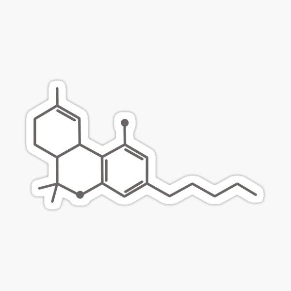 THC Molecule  Sticker