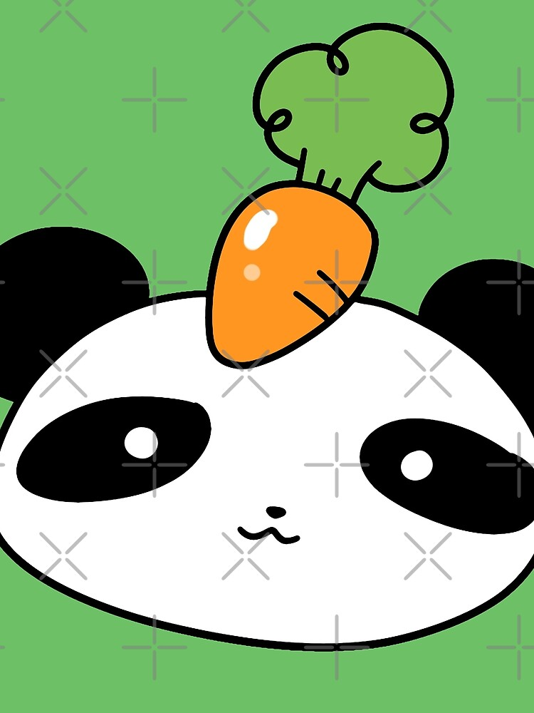 Carrot Panda Face by SaradaBoru