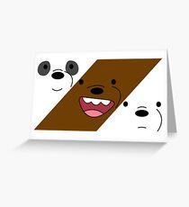 We Bare Bears V Greeting Card