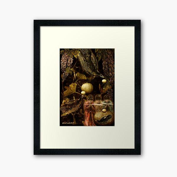 Lluvia de calabazas... Framed Art Print