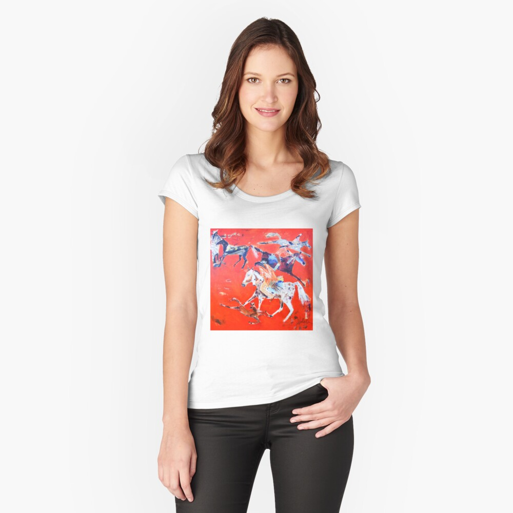 Horse Play Fitted Scoop T-Shirt