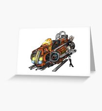 The cyborg's ride Greeting Card