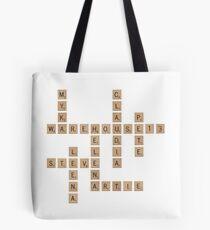 Warehouse Scrabble Tote Bag