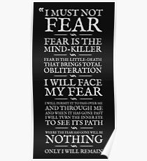 Póster Letanía contra el miedo