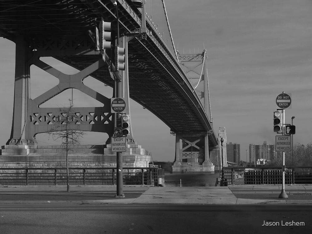 Ben Franklin Bridge by Jason Leshem