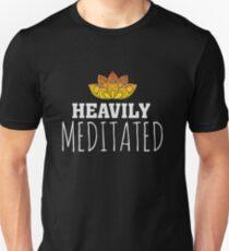 Heavily Meditated - Yoga Zen Lotus Flower Slim Fit T-Shirt